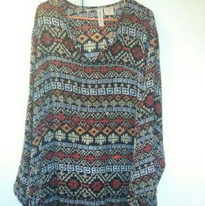 🆕 preowned Tribal Print Abaya Dress